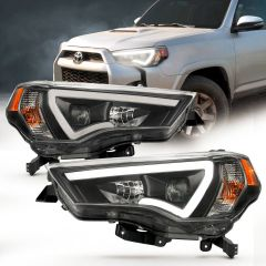 TOYOTA 4 RUNNER 14-18 H.L PROJECTOR PLANK STYLE H.L. BLACK CLEAR AMBER