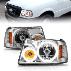 2018-2020 FORD F-150 PROJECTOR LIGHT BAR STYLE SWITCHBACK HEADLIGHTS BLACK AMBER
