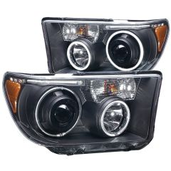 TOYOTA TUNDRA 07-13 / SEQUOIA 08-15 PROJECTOR HEADLIGHTS HALO w/ LED BAR BLACK (CCFL)