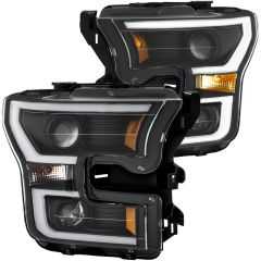 FORD F-150 15 - 17 PROJECTOR PLANK STYLE H.L. BLACK CLEAR AMBER