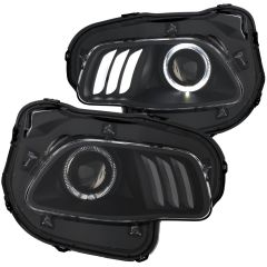 JEEP CHEROKEE 14-18 PROJECTOR H.L BLACK CLEAR WITH  LED HALO