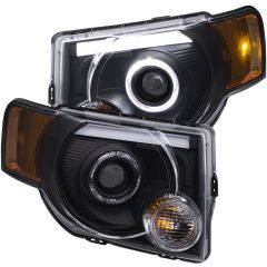 FORD ESCAPE 8-12  PROJECTOR  HL BLACK CLEAR  AMBER ( LED HALO)