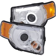 FORD ESCAPE 8-12  PROJECTOR  HL CHROME CLEAR  AMBER ( LED HALO)