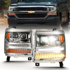 2016 - 2018 CHEVROLET SILVERADO 1500 LED Projector Headlights