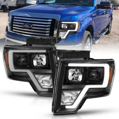 FORD F-150 09-14 PROJECTOR PLANK STYLE LIGHT BAR H.L BLACK AMBER