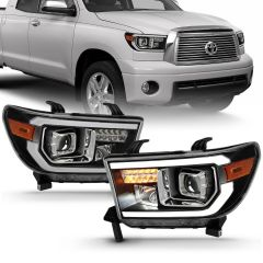 TOYOTA TUNDRA 07-13 / SEQUOIA 08-16 HALOGEN PROJECTOR LIGHT BAR H.L BLACK AMBER (LED HIGH BEAM)