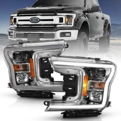 FORD F-150 18-20 PROJECTOR PLANK STYLE H.L. CHROME AMBER (WITHOUT SWITCHBACK)
