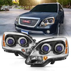 GMC ACADIA 07-12 CRYSTAL HEADLIGHT CHROME AMBER(OE)