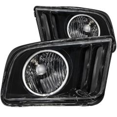 FORD MUSTANG 05-09 CRYSTAL HEADLIGHTS BLACK w/ HALO (CCFL)