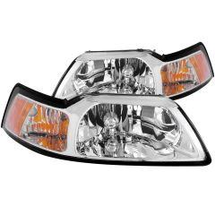 FORD MUSTANG 99-04 CRYSTAL HEADLIGHTS CHROME