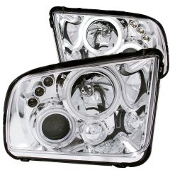 FORD MUSTANG 05-09 PROJECTOR HEADLIGHTS CHROME w/ HALO (CCFL)