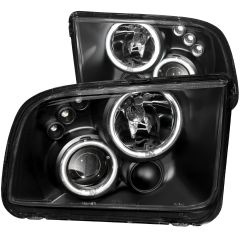 FORD MUSTANG 05-09 PROJECTOR HEADLIGHTS BLACK w/ HALO (CCFL)