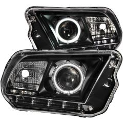 FORD MUSTANG 10-13 PROJECTOR HEADLIGHTS BLACK w/ HALO (CCFL)