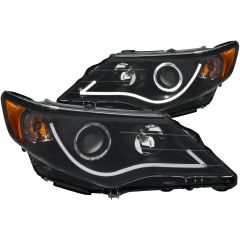 TOYOTA CAMRY 12-13 PROJCETOR H.L HALO BLACK CLEAR AMBER