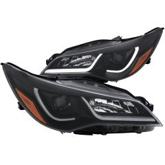 TOYOTA CAMRY 15-17  PROJECTOR PLANK STYLE HEADLIGHTS BLACK AMBER (4DR)
