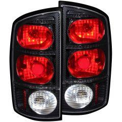 DODGE RAM 1500 02-05 / 2500/3500 03-06 TAIL LIGHTS CARBON