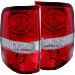 FORD F-150 04-08 TAIL LIGHTS RED/CLEAR (L.E.D STYLE)