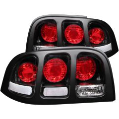 FORD MUSTANG 94-98 TAIL LIGHTS BLACK