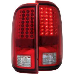 FORD F-250/350/450/550 SUPERDUTY 08-16 L.E.D TAIL LIGHTS RED/CLEAR