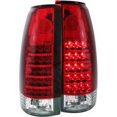 CHEVY/GMC C/K1500/2500 88-98 / C/K3500 88-00 / SUBURBAN 92-99 / BLAZER (full-size) 92-94 / TAHOE 95-99 / YUKON 92-99 L.E.D TAIL LIGHTS RED/CLEAR