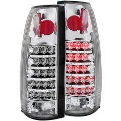 CHEVY/GMC C/K1500/2500 88-98 / C/K3500 88-00 / SUBURBAN 92-99 / BLAZER (full-size) 92-94 / TAHOE 95-99 / YUKON 92-99 L.E.D TAIL LIGHTS CHROME