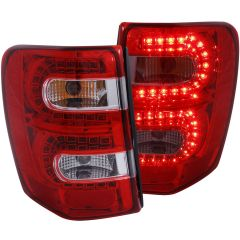 JEEP GRAND CHEROKEE 99-04 L.E.D TAIL LIGHTS RED/CLEAR