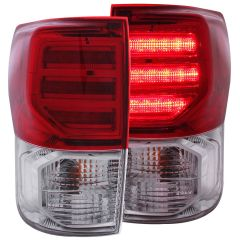 TOYOTA TUNDRA 07-13 L.E.D TAIL LIGHTS RED/CLEAR G2