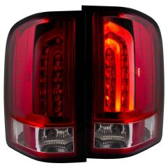 CHEVY SILVERADO 1500 07-13 / 2500HD/3500HD 07-14 L.E.D TAIL LIGHTS RED/CLEAR G2