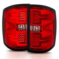 CHEVY SILVERADO 14-18 L.E.D TAIL LIGHTS RED LENS (SEQUENTIAL SIGNAL)