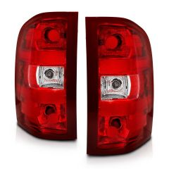 CHEVY SILVERADO 07-13 TAILLIGHT RED/CLEAR LENS (OE REPLACEMENT)