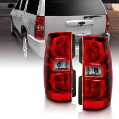CHEVY TAHOE 07-14 SUBURBAN 07-14 TAILLIGHT RED/CLEAR LENS (OE REPLACEMENT)