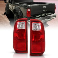 FORD F-250/F-350/F-450 SUPER DUTY 08-16 TAILLIGHT RED/CLEAR LENS (OE REPLACEMENT)