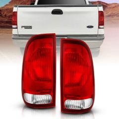 FORD F-150 97-03 F-250/F-350/F-450 SUPER DUTY 99-07 TAILLIGHT RED/CLEAR LENS (OE REPLACEMENT)