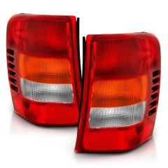JEEP GRAND CHEROKEE 99-04 TAILLIGHTS RED/CLEAR LENS (OE REPLACEMENT)