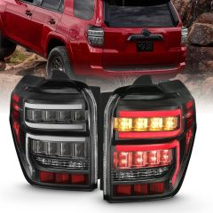 TOYOTA 4RUNNER 14-20 T.L BLACK HOUSING CLEAR LENS RED LIGHT BAR W/SEQUENTIAL