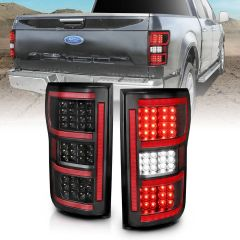 FORD F-150 18-20 LED TAILLIGHT BLACK (RED LIGHT BAR) (W/ SEQUENTIAL)