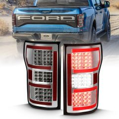 FORD F-150 18-20 LED TAILLIGHT CHROME (RED LIGHT BAR) (W/ SEQUENTIAL)