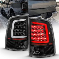 DODGE RAM 1500 09-18 2500/3500 10-18 LED TAILLIGHT PLANK STYLE BLACK W/CLEAR LENS