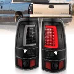CHEVY SILVERADO 1500/1500HD/2500/2500HD 03-06 3500 04-06 1500/2500/3500 CLASSIC 07 LED TAILLIGHTS PLANK STYLE  BLACK W/CLEAR LENS