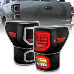 TOYOTA TUNDRA 07-13 LED TAILLIGHTS PLANK STYLE  BLACK W/CLEAR LENS