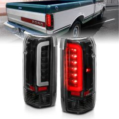 FORD F-150 87-96 F-250/F-350/F-450 SUPERDUTY 87-96 BRONCO 88-96 LED TAILLIGHTS BLACK HOUSING CLEAR LENS