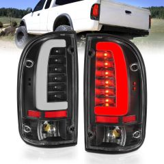 TOYOTA TACOMA 95-00 LED TAILLIGHTS BLACK HOUSING CLEAR LENS
