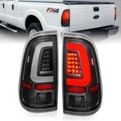FORD F-250/F-350/F-450/F-550 SUPER DUTY 08-16 LED TAILLIGHTS BLACK HOUSING CLEAR LENS