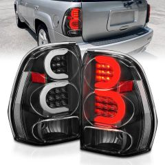 CHEVY TRAILBLAZER 02-09 LED TAIL LIGHTS BLACK HOUSING CLEAR LENS