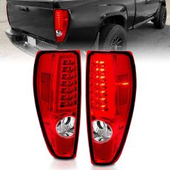 CHEVY COLORADO 04-10 LED TAIL LIGHTS CHROME HOUSING RED/CLEAR LENS (W/ C LIGHT BAR)