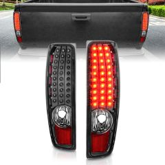 CHEVROLET COLORADO 04-12 / GMC CANYON 04-12 LED TAIL LIGHTS BLACK HOUSING CLEAR LENS