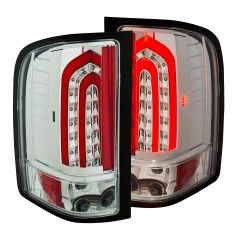 CHEVY SILVERADO 1500/2500/3500 07-13 L.E.D TAILLIGHTS G4  ALL CHROME