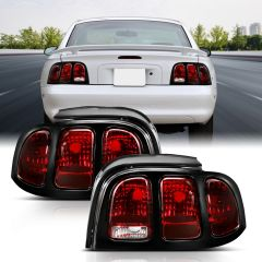 FORD MUSTANG 94-98 TAILLIGHTS DARK RED LENS (OE STYLE)