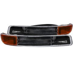 GMC SIERRA 99-06 / YUKON/ XL 00-06 PARKING LIGHTS BLACK AMBER