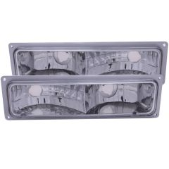 CHEVY/GMC C/K1500/2500 88-98 / C/K3500 88-00 / SUBURBAN 92-99 / BLAZER (full-size) 92-94 / TAHOE 95-99 / YUKON 92-99 EURO PARKING/SIGNAL LIGHTS CHROME CLEAR